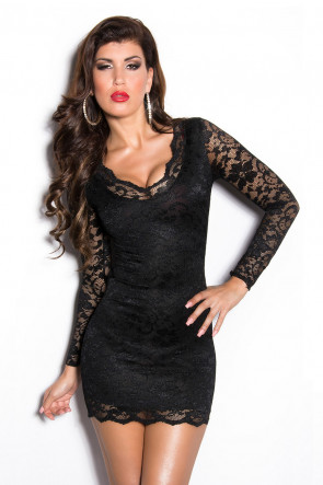 Black Lace Minidress
