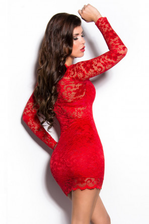 Red Lace Minidress
