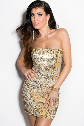 Gold Sequin Party Minidress