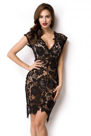 Black Flower Lace Dress