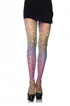Rainbow Cheetah Tights