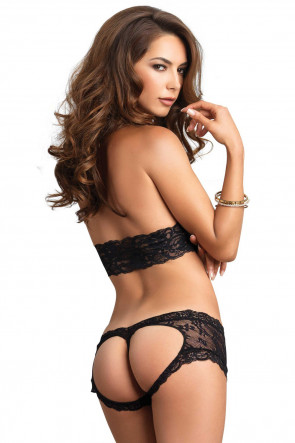 Stretch Lace Cheeky Cutout Set