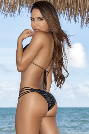 Glam Rock Strappy Scrunch Bikini
