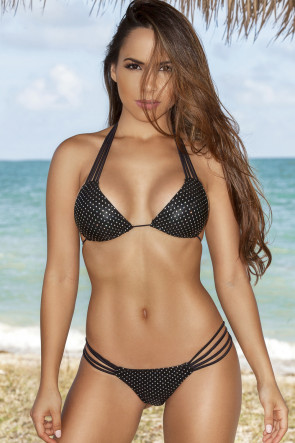 Glam Rock Strappy Scrunch Bikini