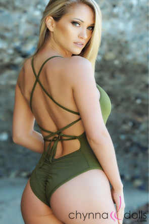 Phoenix Lace-up Swimsuit Green