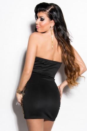 Black/Gold Sequin Party Minidress