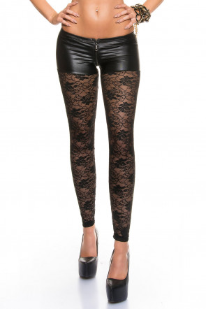 Black Lace Leggings