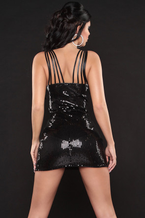 Sexy Black Sequin Minidress