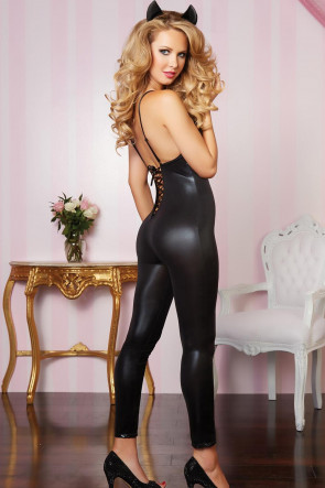 Lace Up Catsuit