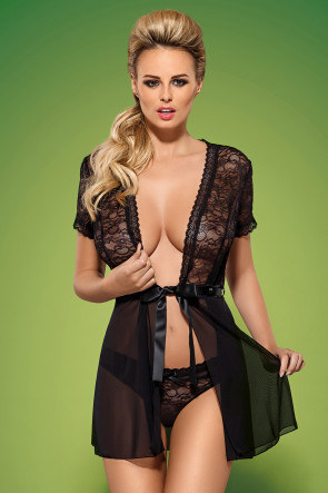 Swanita Robe Black