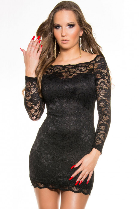 Long Sleeve Lace Minidress