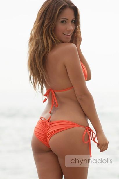 Coral Orange Scrunch Up
