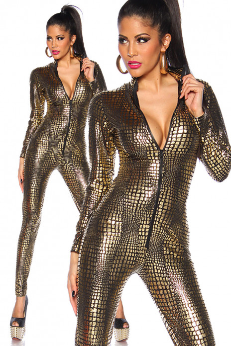 Gold Wetlook Overall