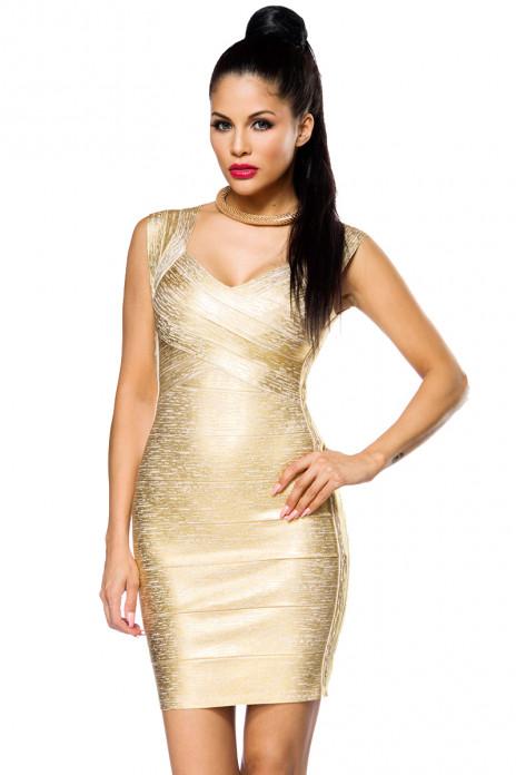 Golden Bandage Dress
