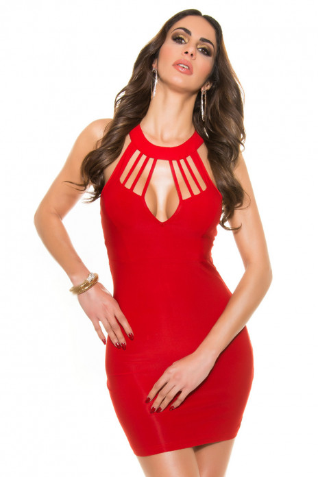 Red Strappy Minidress