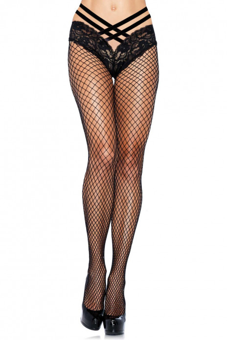 Net Pantyhose with Lace Panty