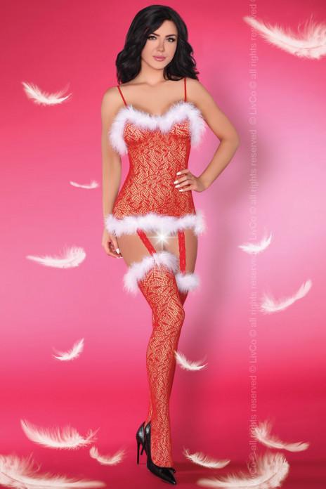 Catriona Christmas Bodystocking