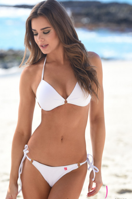 Victoria Padded Push Up Scrunch White