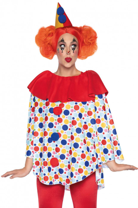 Leg Avenue Clown Poncho and hat