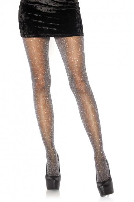 Lurex Pantyhose Black & Silver