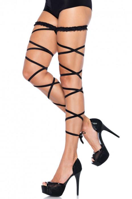 Garter Leg Wrap Set Black