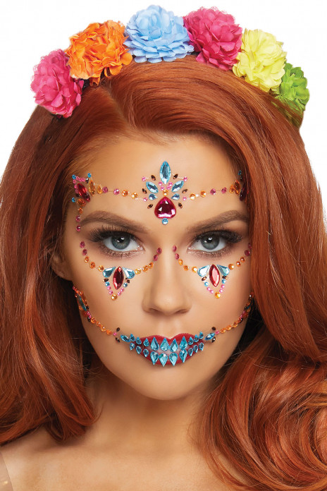 DOTD Face Jewels Sticker
