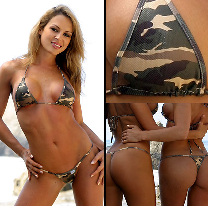 Camouflage Green - T-string
