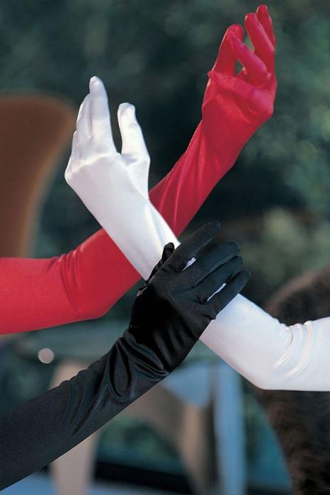 Satin Gloves White