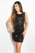 Sequin Party Minidress Black