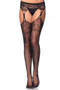 Tear Drop Garter Lace Stockings