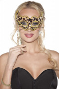 Leopard Hand Held Mask
