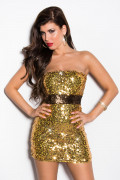 Gold Sequin Minidress