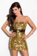 Gold Sequin Minidress