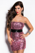 Pink Sequin Minidress