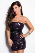 Purple Sequin Minidress