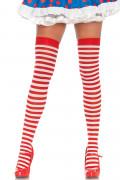 Nylon Stripe Thigh High