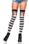 Panda Striped Thigh Highs