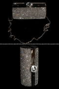 Glamour Clutch Bag with Chain and Rhinestones