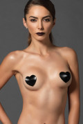 Satin Heart Nipple Cover