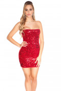Red Sequin Party Minidress