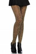 Lurex pantyhose black, gold