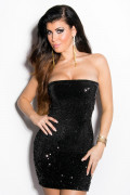 Black Sequin Party Minidress