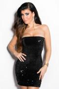 Black Sequin Party Minidress