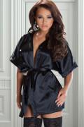 Rashida morgonrock S-XL svart