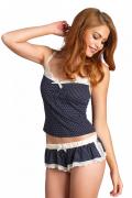 Polka Dot Jersey Cami & Shorts