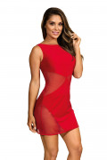 Party At Ibiza - Minidress Mesh Red