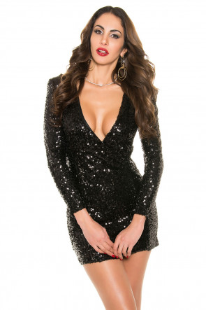 Sequinted Minidress