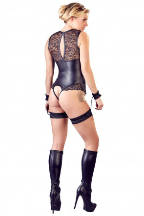 Matte & Lace Body with Cuffs