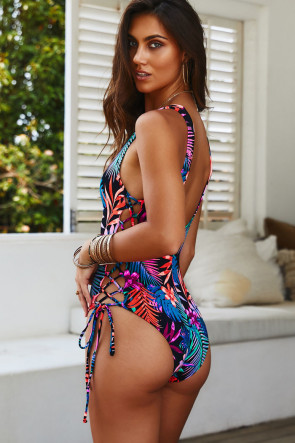 Kandy Black Tropical Monokini