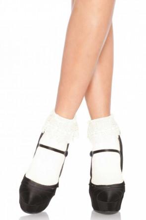 Venice Lace Top Socks Ivory